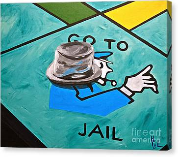 Go To Jail  Canvas Print by Herschel Fall