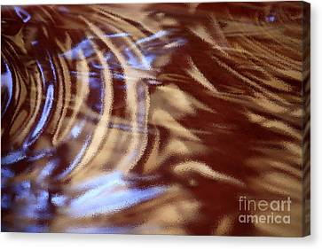 Go With The Flow - Abstract Art Canvas Print by Carol Groenen