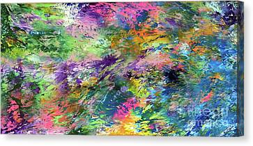 Go With The Flow Canvas Print by Jo Ann Bossems