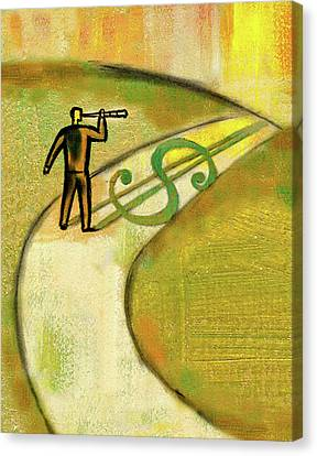 Canvas Print featuring the painting Goal by Leon Zernitsky