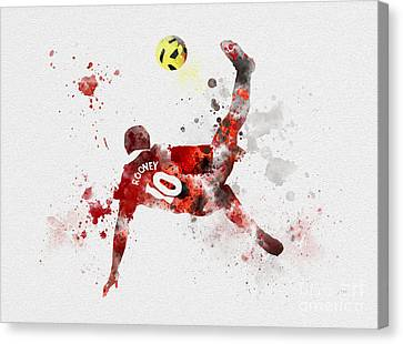 Wayne Rooney Canvas Print - Goal Of The Season by Rebecca Jenkins