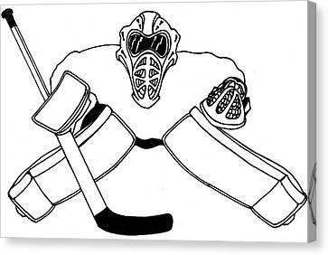 Goalie Equipment Canvas Print by Hockey Goalie