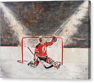 Goalkeeper Canvas Print by Miroslaw  Chelchowski