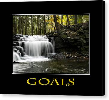 Goals Inspirational Motivational Poster Art Canvas Print by Christina Rollo