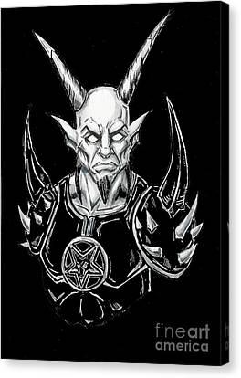Horror Fantasy Movies Canvas Print - Goatlord Armor Black  by Alaric Barca
