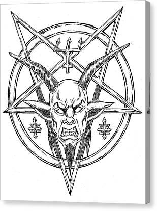 Horror Fantasy Movies Canvas Print - Goatlord Logo by Alaric Barca