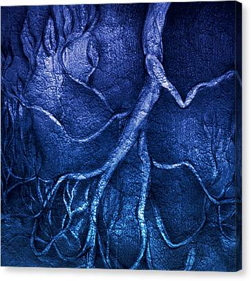 Go..away..blues Canvas Print by S Csilla