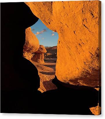 Goblin Valley  Look Through Canvas Print by Gary Warnimont