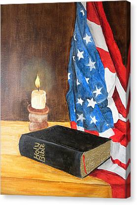 God Bless America Canvas Print by Marti Idlet