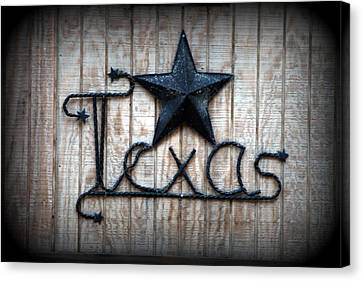 Canvas Print featuring the photograph God Bless Texas by Kathy  White