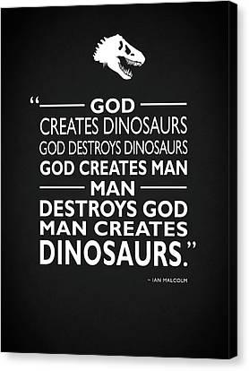 T-rex Canvas Print - God Creates Dinosaurs by Mark Rogan