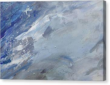 Silver Turquoise Canvas Print - God Divided The Light From The Darkness by Laurie Hein