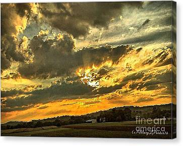 God Hand Canvas Print by MaryLee Parker