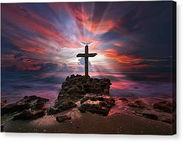 God Is My Rock Special Edition Fine Art Canvas Print by Justin Kelefas