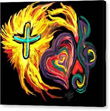 God Love Music Canvas Print by Susan Cooke Pena