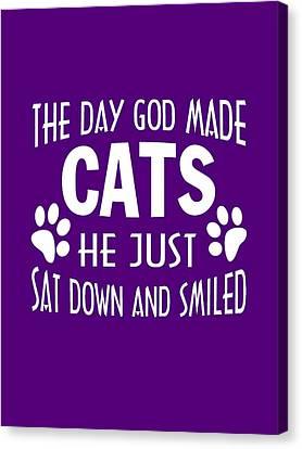 God Made Cats Canvas Print
