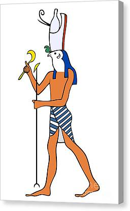 God Of Ancient Egypt - Horus Canvas Print by Michal Boubin