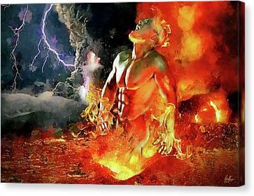 Marcin Canvas Print - God Of Fire by Marcin and Dawid Witukiewicz