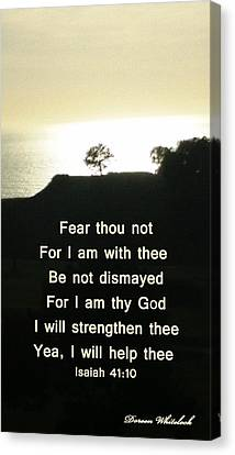 God Will Help You Canvas Print by Doreen Whitelock