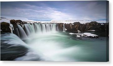 Godafoss Canvas Print by Tor-Ivar Naess