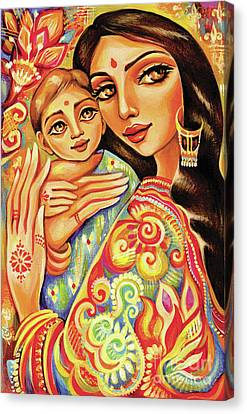 Canvas Print featuring the painting Goddess Blessing by Eva Campbell