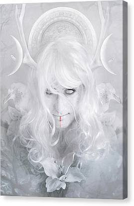 Goddess Canvas Print by Cambion Art