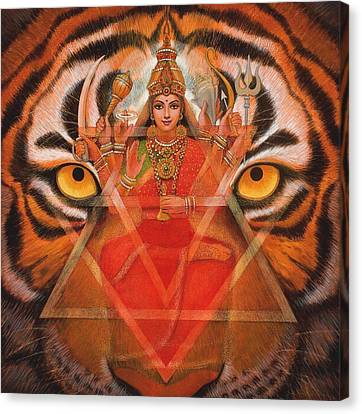 Goddess Durga Canvas Print by Sue Halstenberg