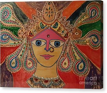 Goddess Durga Canvas Print by Suman Kamath
