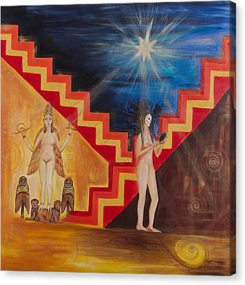 Goddess Inanna Canvas Print by Solveig Katrin