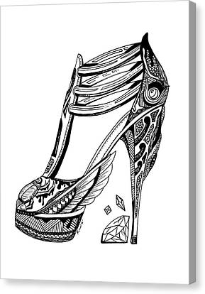Goddess Isis High Heel Canvas Print by Kenal Louis
