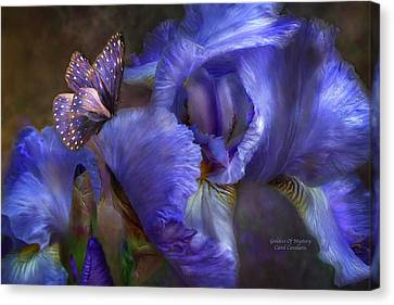 Flower Art Canvas Print - Goddess Of Mystery by Carol Cavalaris
