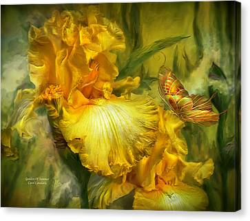 Insects Canvas Print - Goddess Of Summer by Carol Cavalaris