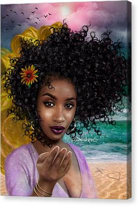 Goddess Oshun Canvas Print by Dedric Artlove