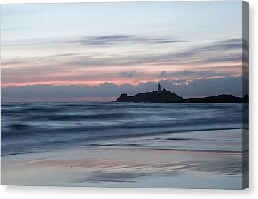 Godrevy Lighthouse From The Beach Canvas Print