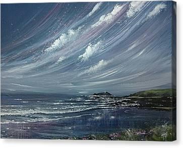 Canvas Print - Godrevy Lighthouse  by Keran Sunaski Gilmore
