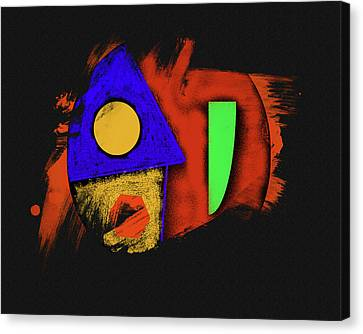 Gods Angry Fist Canvas Print by Robert Frank Gabriel