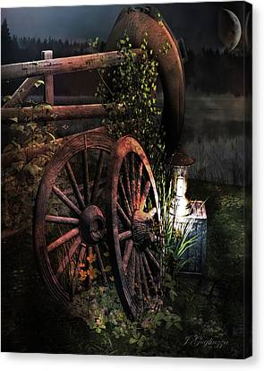 God's Country Canvas Print by Jean Gugliuzza