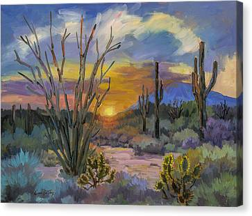 God's Day - Sonoran Desert Canvas Print by Diane McClary