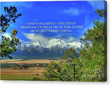 God's Majestic Creation Canvas Print