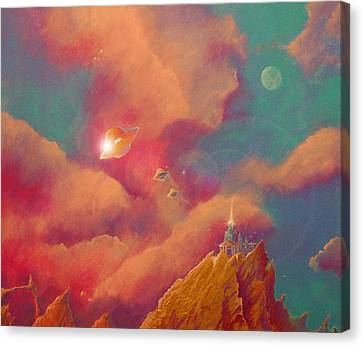 Gods Of Olympus Canvas Print by Steve Griffith