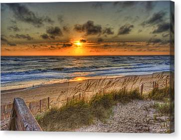 God's Promise Of A New Day Canvas Print by E R Smith