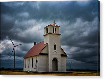 God's Storm Canvas Print by Darren White