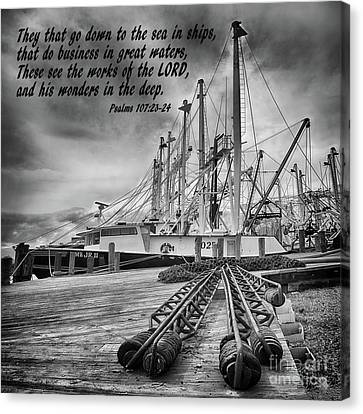 God's Wonders In The Deep In Black And White Canvas Print