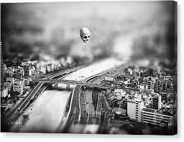 Creepy Canvas Print - Godseye 2 by Joseph Westrupp