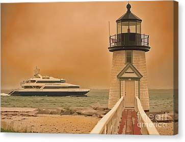 Godspeed At Brant Point Nantucket Island Canvas Print by Jack Torcello