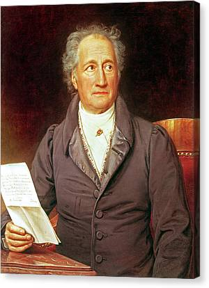 Goethe Canvas Print by Joseph Carl Stieler