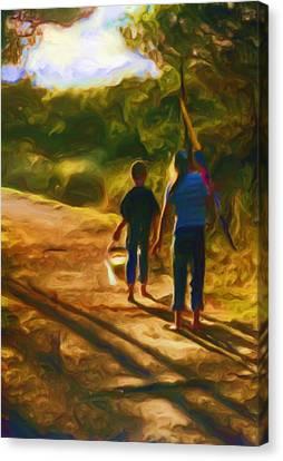 Goin To The Beach Canvas Print