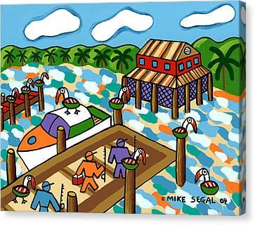 Going Fishing - Cedar Key Canvas Print