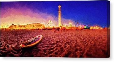 Going Home - Painterly - Santa Cruz Canvas Print by Scott Campbell