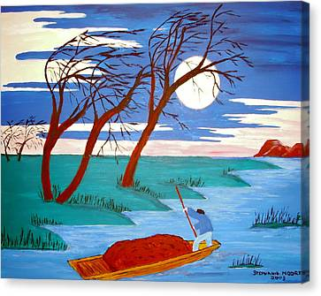 Canvas Print featuring the painting Going Home by Stephanie Moore